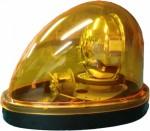【送料無料】車用マグネット付き流線型回転灯(エース神戸)黄色