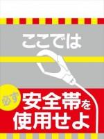 TH10 ここでは必ず安全帯を使用せよ タンカン標識(単管垂れ幕)