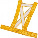 安全ベスト タスキタイプ 黄色反射(反射ベスト、蛍光ベスト)